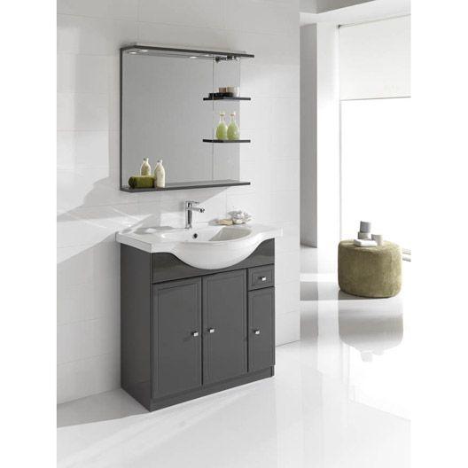 12 best Salle de bain images on Pinterest Bathroom, Bathroom - leroy merlin meuble salle de bain neo
