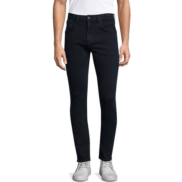 Hudson Axl Skinny Jeans ($198) ❤ liked on Polyvore featuring men's fashion, men's clothing, men's jeans, mens jeans, mens super skinny jeans, hudson mens jeans, mens skinny jeans and mens skinny fit jeans