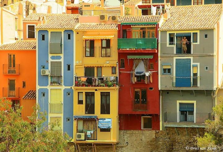 Casas de colores del Casco Histórico.