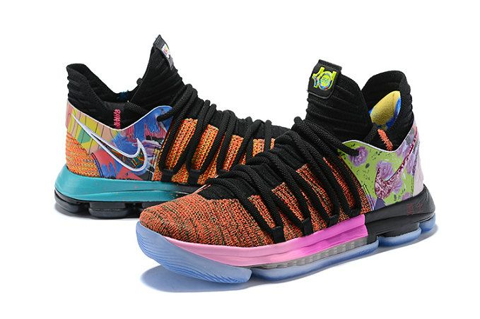 sports shoes 74cae 312b9 Nike KD 10 What The PE Multi Color Mens Original Basketball Shoes 2018 For  Sale