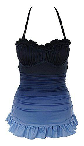 Women Swimdress One Piece Swimsuit With Skirt Vintage Push Up Fasot http://www.amazon.com/dp/B00ZF33ELO/ref=cm_sw_r_pi_dp_Mnw9vb0KWPKP0