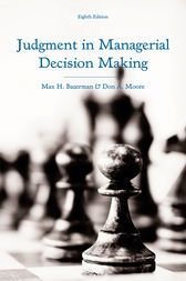 judgment in managerial decision making pdf