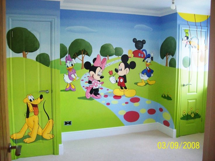 Charmant Wall Stickers Mural Mickey Mouse Clubhouse | It Took 6 Days To Complete.