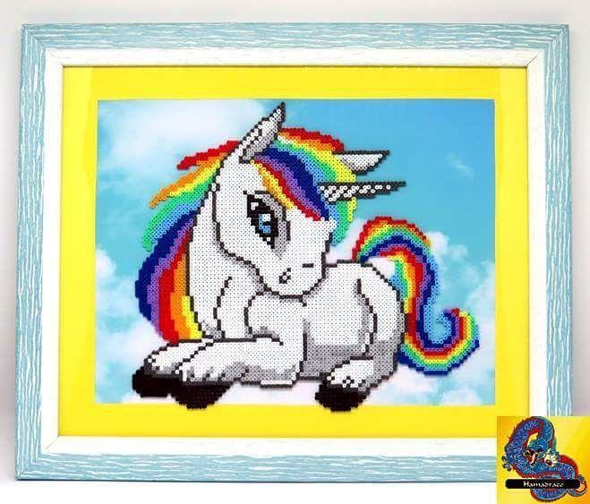 Cuadro unicornio  #cuadros #picture #unicornio#unicorn #niños#kids#kidsroom #arcoiris #rainbow #hama#perler#beads#hamabeads#pixel#perlerbeads#beadswork#creative#perlerart#handmade#art#pixelart#manualidades#hechoamano#decoracion#decor