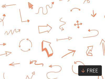 Hand Drawn Vector Arrows (SVG)