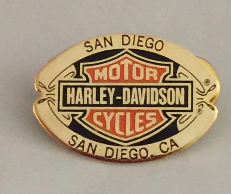 1998 Collectible Harley Davidson San Diego Bold Brass Enamel Etched Pin/PinBack