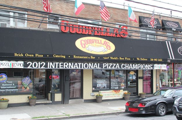 Goodfellas pizzeria named BEST PIZZA IN THE WORLD! Located at 1718 Hylan Boulevard on Staten Island. It was opened in 1993.