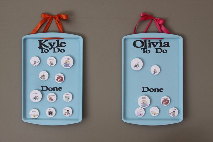 cute idea for kids chore chart