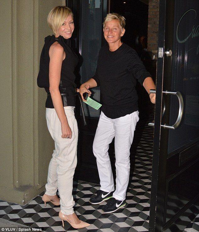 Portia De Rossi Wedding Hair: Ellen DeGeneres And Portia De Rossi Step Out For A Dinner