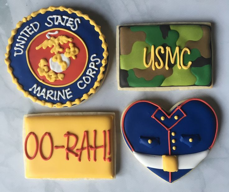 USMC Marine Corp Sugar Cookie Collection by NotBettyCookies on Etsy https://www.etsy.com/listing/449195258/usmc-marine-corp-sugar-cookie-collection