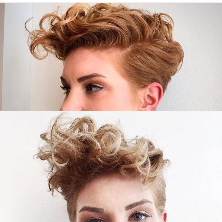 Curly pixie faux hawk                                                       …