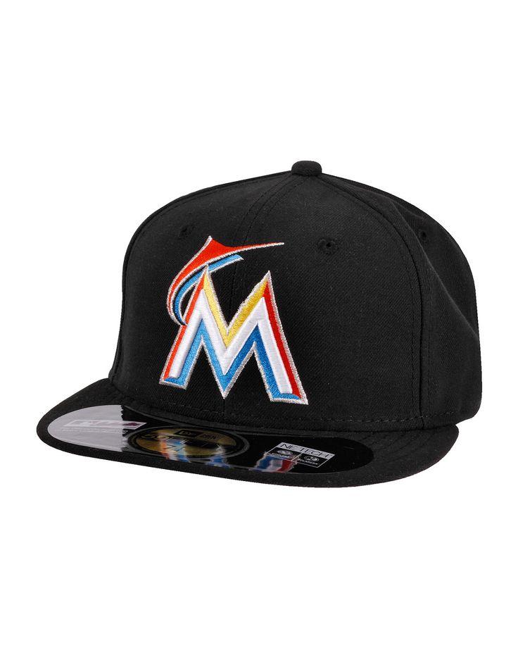 NEW ERA Authentics Miami Marlins black Kappen/Mützen für Männer im Streetwear Online Shop inflammable.com bestellen