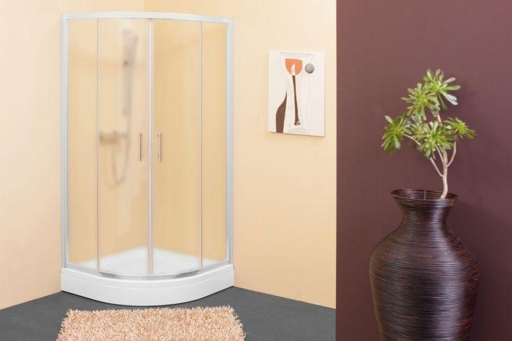 Klasična polkrožna tuš kabina iz 5/6mm kaljenega prozornega ali chinchilla stekla