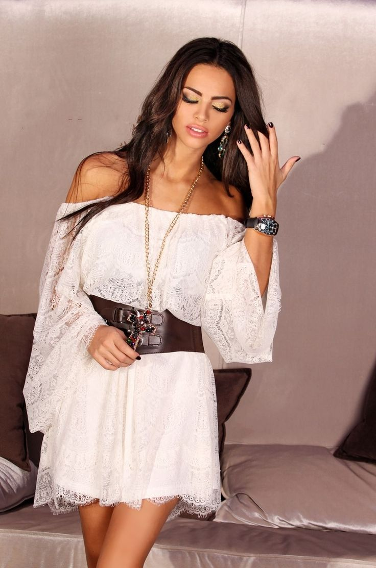 White Lace Cover up Dress - Baronesa Fashion House