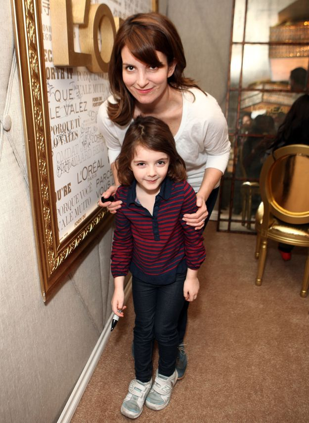 Tina Fey and Tiny Fey | 10 Celebrity Moms Whose Kids May Secretly Be Their Twin
