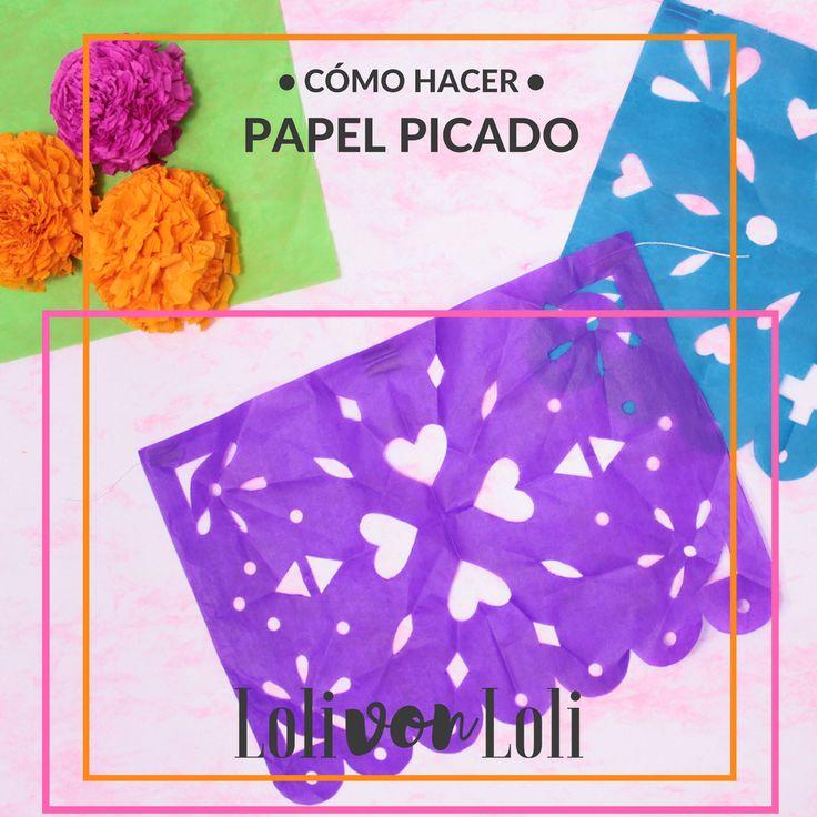 Cómo hacer papel picado muy fácil + plantilla