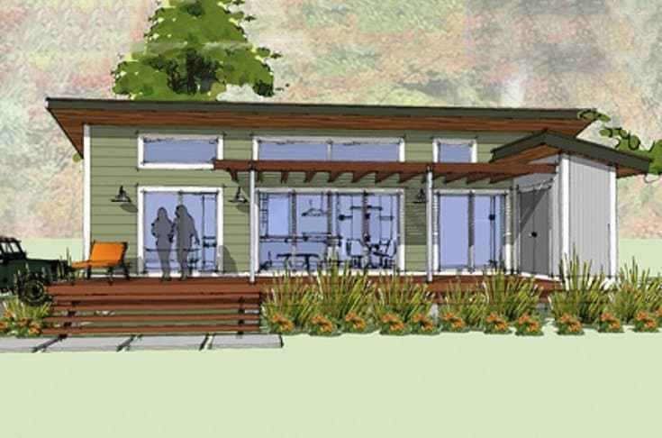 Ultra Simple Modern House Plan Cabin Style Modern Style House