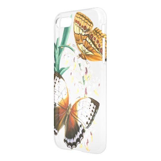 Vintage Butterflies Transparent Cellphone Case