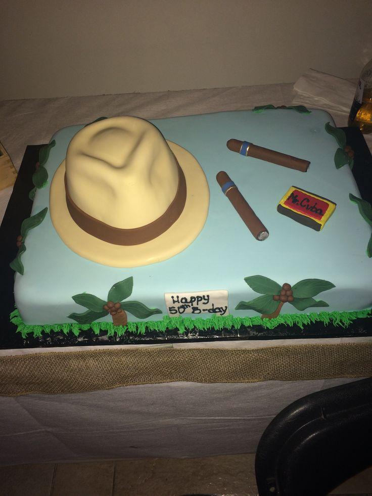 Havana Night 50th Birthday Party Cuban Inspired Cake