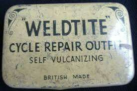 Antique bicycle tire patch kit ...