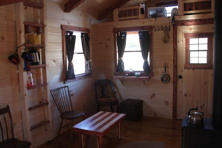Trophy Amish Cabins Llc 10 X 20 Hunter 200 S F Standard 4 Porch Loft 10 X 16 Interior Plus 3 Window Roof Sheathing Interior Windows Loft Railing