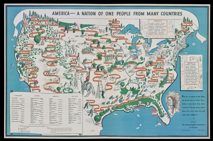 """The Powerful 1940 Map That Depicts America as a Nation of Immigrants"" 