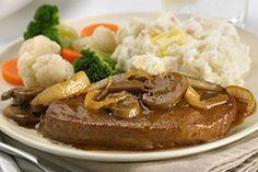 Chuck Tender Steaks with Mushrooms and Steak Sauce