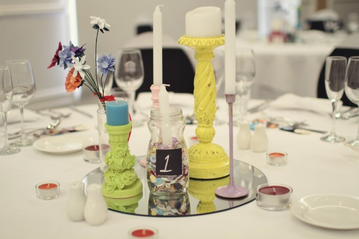 Table centers at mine and Colin's wedding.  Photography by Shutter + Lace Photography