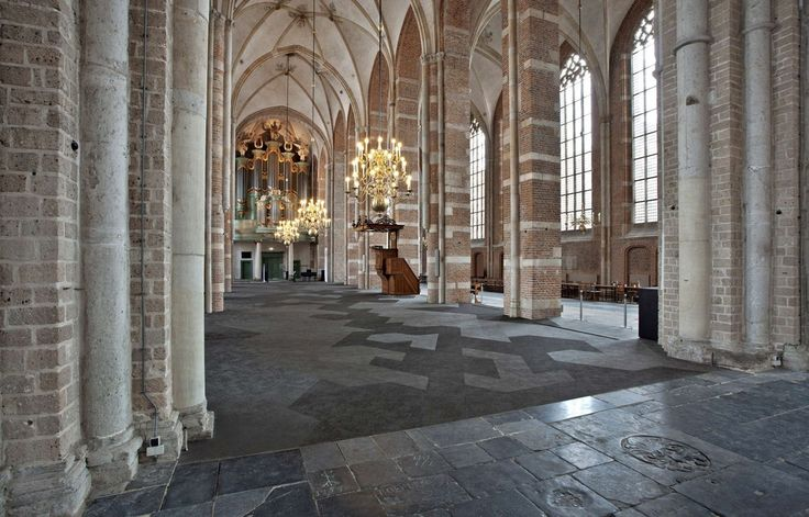 Bolon flooring in Lebuïnuskerk Church in Deventer, Netherlands