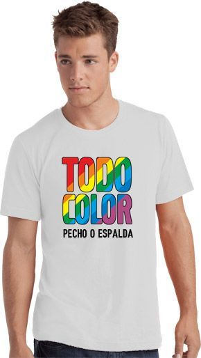 Camiseta Blanca Serigrafia Digital DINA4 marca Sols