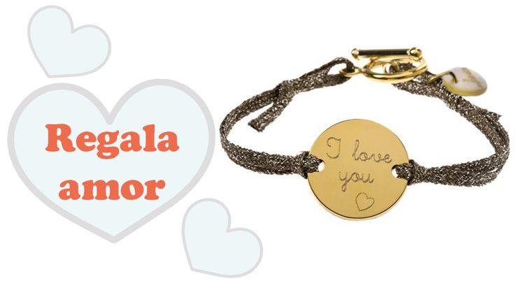 Regalos para San Valentín. http://www.mifabula.com/es/178-pulsera-esmeralda-cordon-dorado.html