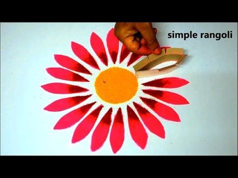 Very easy rangoli designs with bowls // Innovative rangoli //paper bowls art //creative Alpana - YouTube