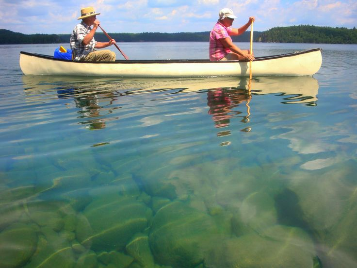 The clear waters of Ten Mile Lake, Elliot Lake Ont. Canada