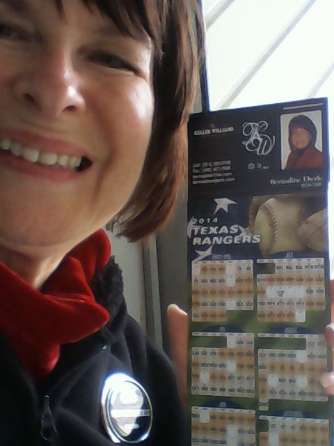 Delivered TX Rangers magnet schedules to my wonderful neighbors.
