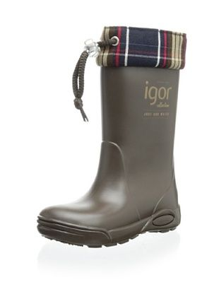 50% OFF igor Kid's Triton Cuello Rain Boot (Marron)