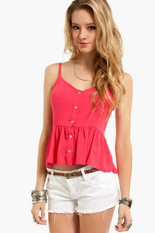 Light Button Tank Top $20 on Wanelo