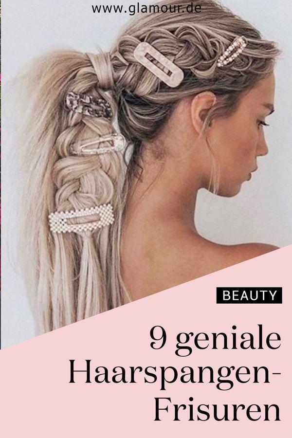 Frisurentrend 2020 Haarspangen Trendalarm 11 Haarspangenfrisuren Die Wir Diesen Sommer Lieben Frisuren Haare Haar Styling