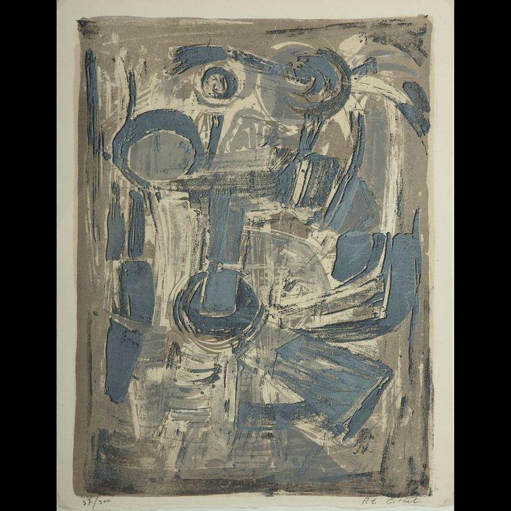 Invitation pour l'exposition de la Galerie de France  Paris 1958  Roger-Edgar Gillet