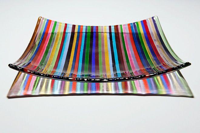 Deckchair Stripes Bowl - 25cms  -- by Ruth Shelley