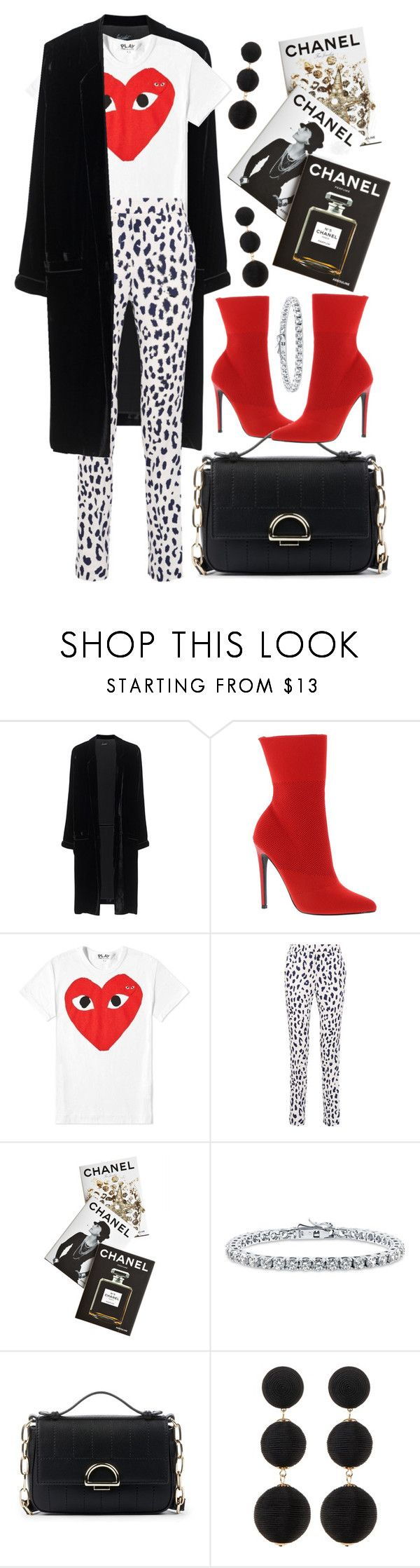 """Red heart"" by fcris7176 ❤ liked on Polyvore featuring Jadicted, Steve Madden, Play Comme des Garçons, TIBI, Assouline Publishing, BERRICLE, Sole Society and Cara"