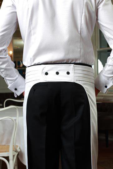 Brasserie Male Waiting Apron Back http://www.theuniformstudio.com/kettners/