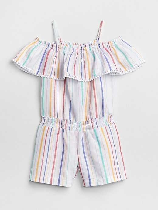 a90f7d5b0bb Gap Girls Stripe Ruffle Romper Multi