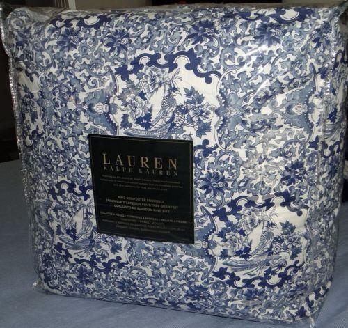 Ralph Lauren Porcelain Blue Tamarind 4 Pc King Comforter