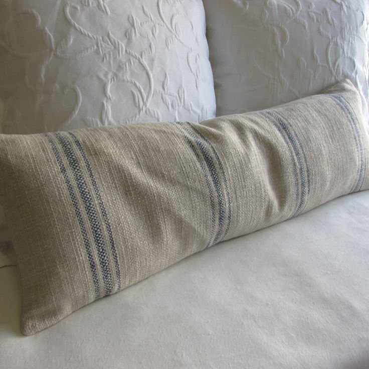 FRENCH LAUNDRY 12x36 long Pillow Cover in BLUE Stripes by yiayias on Etsy https://www.etsy.com/listing/227314538/french-laundry-12x36-long-pillow-cover