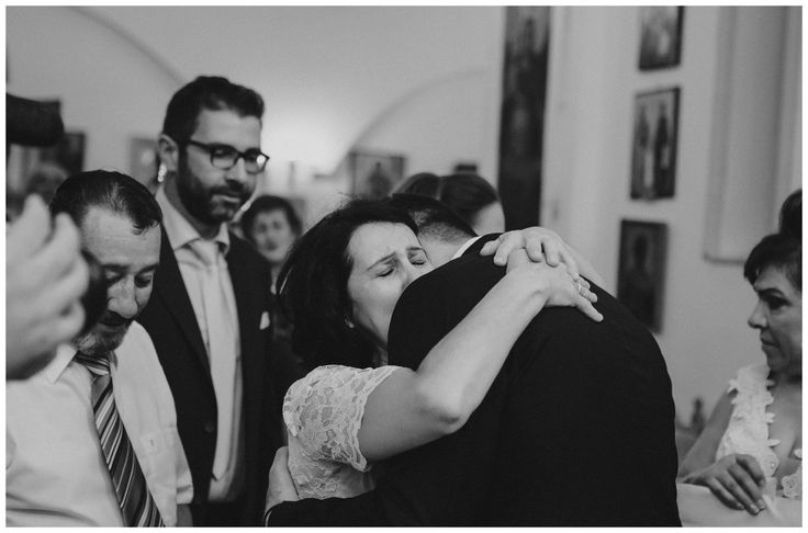After wedding tears by groom's mother