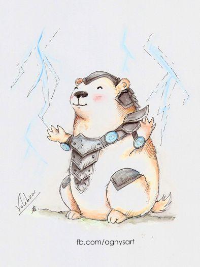 """""""Little Voli"""" #Fanart #Watercolor #Small #Bear #Lol"""