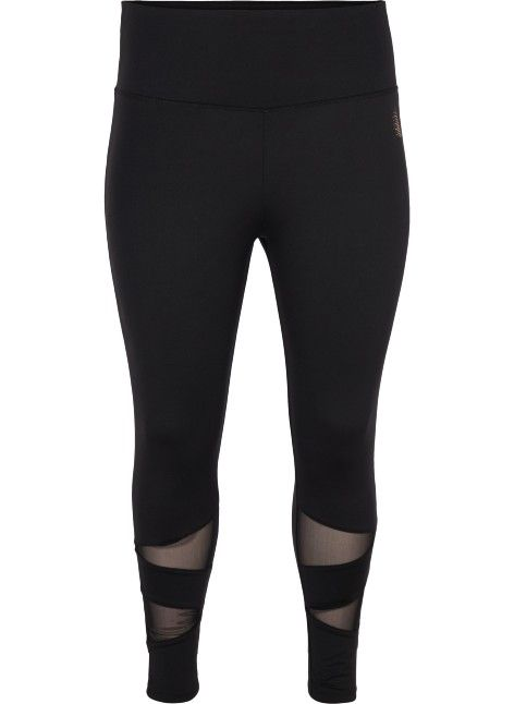 bde85507 Leggings med mesh detaljer - Kjøp i str. 42-56 online på Zizzi.no ...