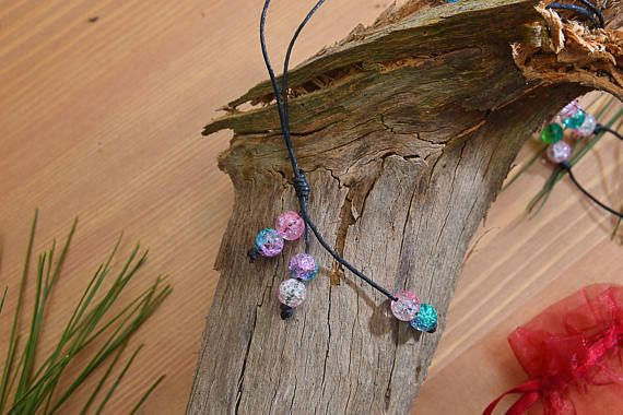 Check out this item in my Etsy shop https://www.etsy.com/listing/526950165/colorful-crackle-beaded-waxed-string