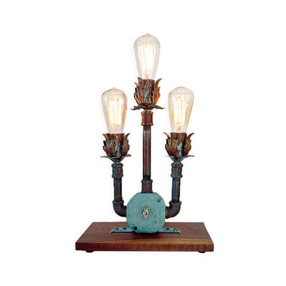 Pipe Lamp Industrial Lamp Urban Pipe Lamp By: Industrial Table Lamp, Urban Pipe