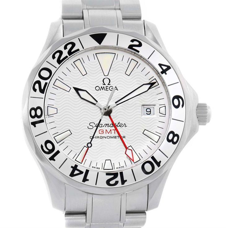 Omega Seamaster GMT Great White Mens Watch 2538.20.00 Unworn